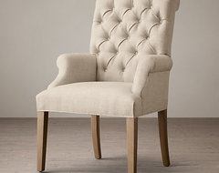 Bennett Roll-Back Upholstered Arm Chair -