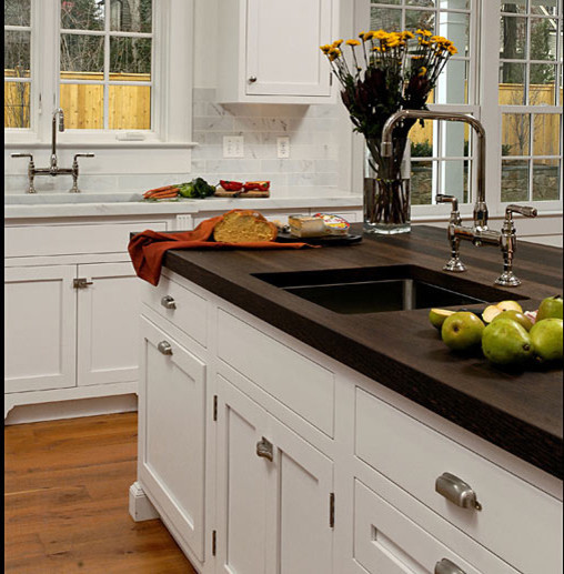Changing Countertops In Kitchen: Wenge Wood Kitchen Countertop With Sink By Grothouse