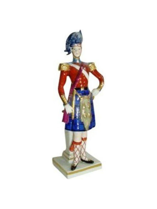 Scottish Soldier Figurine - $250 Est. Retail - $125 on Chairish.com -
