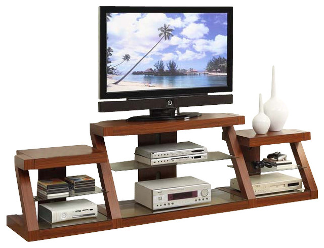dark oak entertainment center multi level tv stand w side. Black Bedroom Furniture Sets. Home Design Ideas
