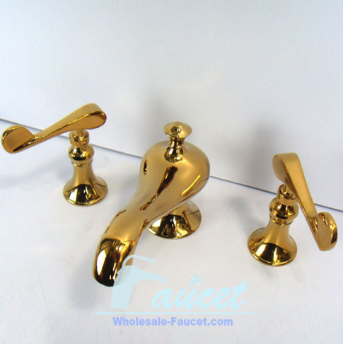 Polised Brass Widespread Lavatory Faucet 6071H traditional bathroom faucets