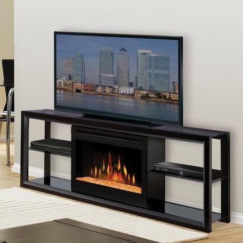 Dimplex Novara Black Entertainment Center Electric Fireplace Contemporary Media Storage By