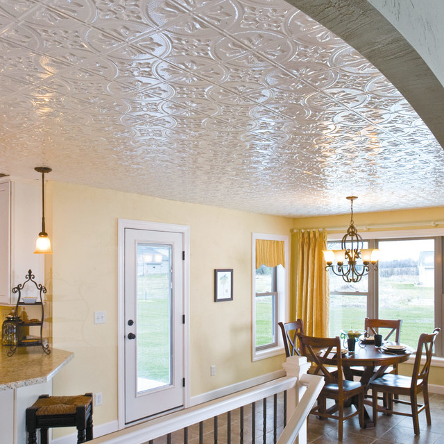 Dining Room Ceilings: Fasade Faux Tin Ceiling Panels