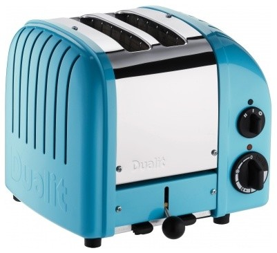 Azure Blue Two-Slice Toaster contemporary toasters