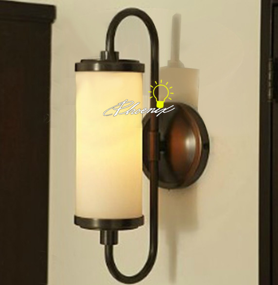 Contemporary Art Glass Wall Sconces : Antique Depolished Glass And Iron Art Wall Sconce And Lamp - Contemporary - new york - by ...