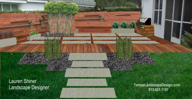 Modern tampa landscape design outdoor room modern for Landscape design tampa