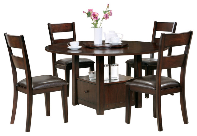 Steve Silver Gibson 6 Piece 42 Inch Square Dining Room Set W Side Chairs In