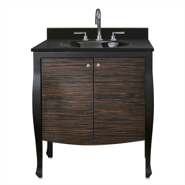 Venisia 30 In. Vanity W/Black Granite Top traditional-bathroom-vanities-and-sink-consoles