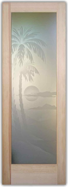Glass Door - Interior or Entry  - Palm Sunset 2D mediterranean interior doors