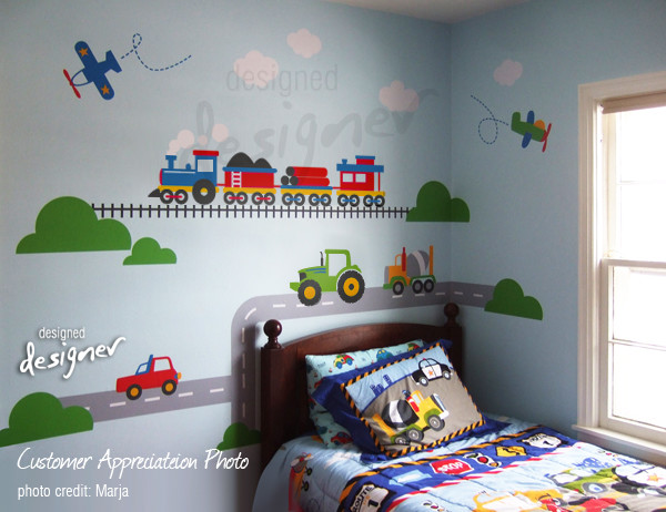 Train For Room Decoration For Kids Room : kids wall decoration - Modern - Kids Decor - other metro - by designer ...