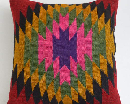 Rustic Kilim Pillow Cover by Sukan -