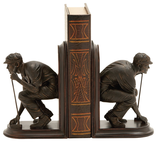 Unique And Stylish Golf Themed Bookends Traditional Bookends By Wildorchid