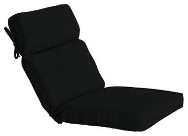 Outdoor Seat & Back Cushion with Box Edge Welts - O traditional-outdoor-pillows