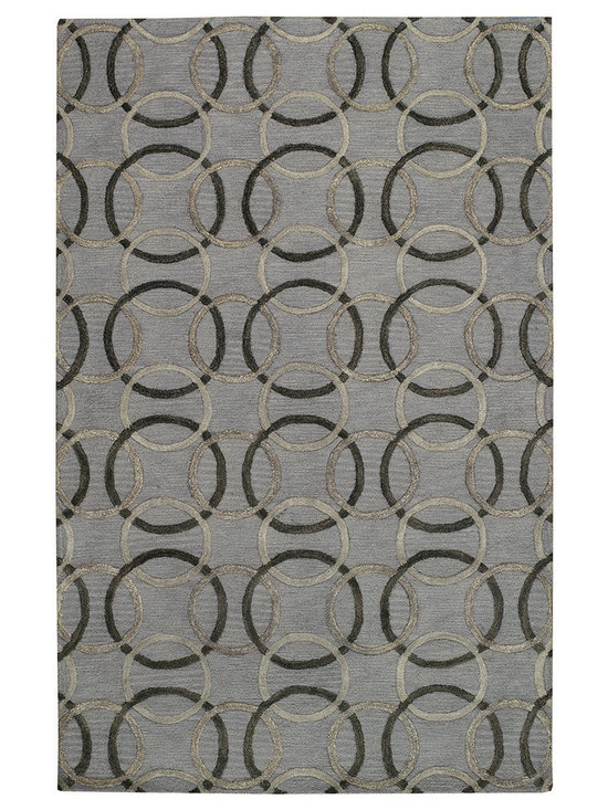Graphique Ringlets rug in Pewter -