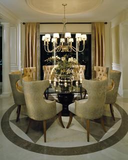 Dining Room Featuring A Fine Art Lamps Portobello Road Chandelier Chandelie