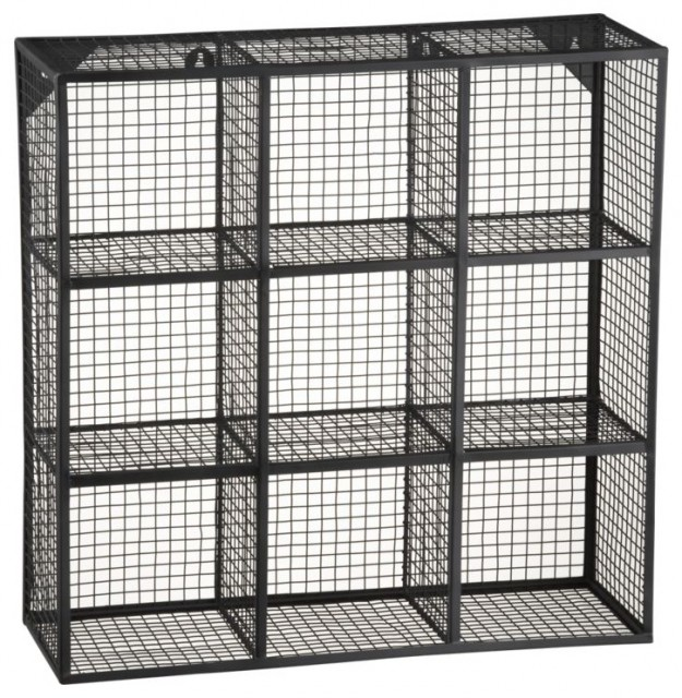 Wire 9 Cube Wall Shelf - Modern - Display And Wall Shelves - by CB2