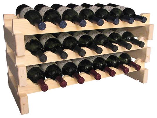 21 Bottle Scalloped Wine Rack in Ponderosa Pine traditional-wine-racks