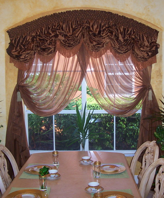Traditional Style Window Treatment Custom Sewing