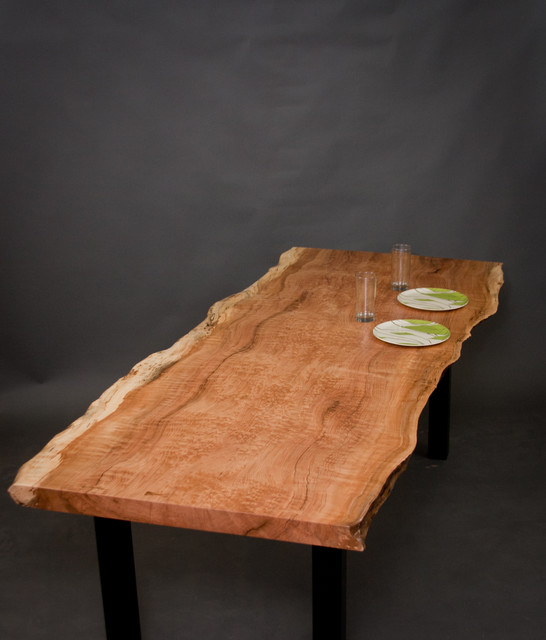 Figured Reclaimed Maple Dining Table modern-dining-tables