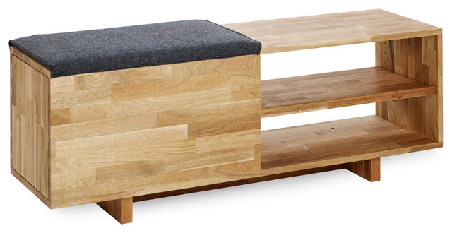Laxseries Storage Bench Contemporary Shoe Storage Los Angeles By Mashstudios
