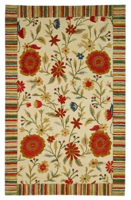 Safavieh Jardin JAR211A Ivory Area Rug asian-carpet-tiles