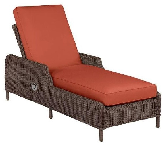 Brown jordan chaise lounges vineyard patio chaise lounge for Brown and jordan chaise