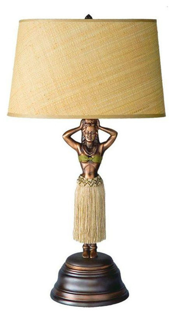 Tommy Bahama Deco Style Dancing Hula Girl Lamp 799 Est