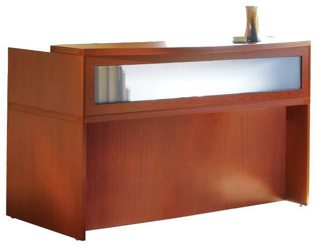 Mayline Aberdeen 72 Quot Reception Desk In Cherry