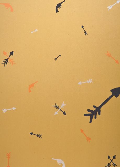 Metallic Guns and Arrows, Large Metallic Guns and Arrows contemporary-wallpaper