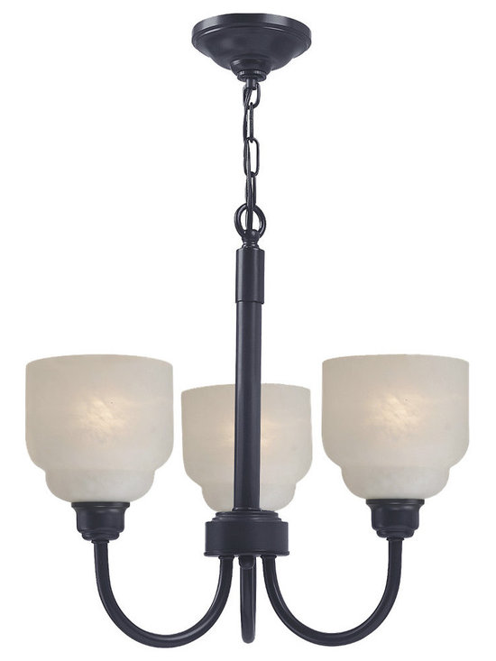 Royce Lighting - Carlton Collection 3-Light Architectural Bronze Chandelier By Royce Lighting - Product Description:-