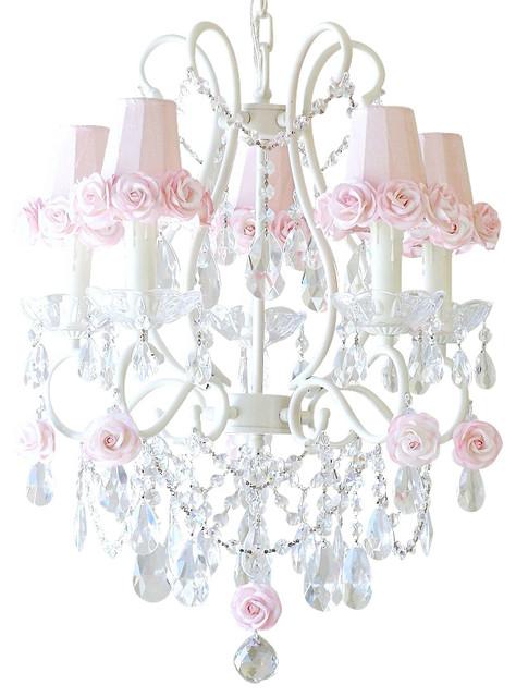 Pink chandelier ceiling fan thejots childrens chandelier chandeliers design lighting ideas aloadofball Images