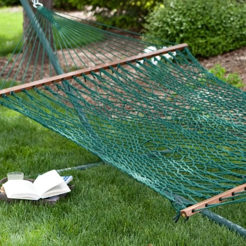 Island bay xl forest green rope hammock traditional