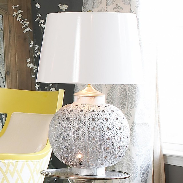 Pierced Moroccan Metal Table Lamp 2 colors! - Lamp Shades - by Shades of Light