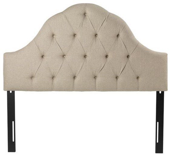 Tufted Arch Headboard traditional-headboards