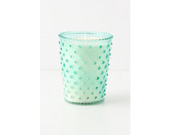 Simpatico Hobnail Candle, Marine eclectic candles and candle holders