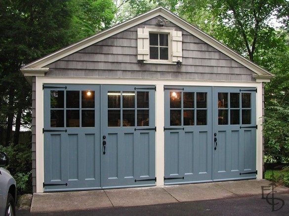 Evergreen Carriage Door traditional-garage-doors-and-openers