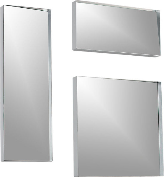 3 piece insight mirror set modern wall mirrors by cb2. Black Bedroom Furniture Sets. Home Design Ideas