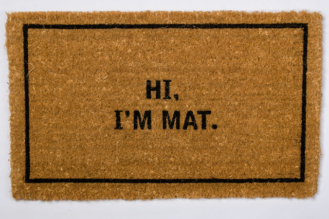 Hi i m mat traditional doormats seattle by coco