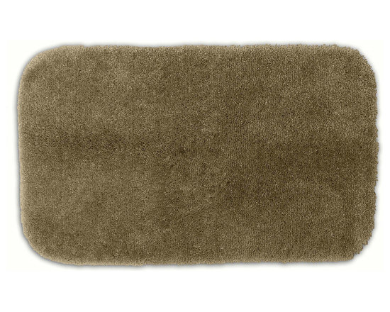 "Sands Rug - Posh Plush Taupe Washable Bath Rug (2'6"" x 4'2"") - Revel in spa-like luxury every time you step into your bath with the Posh Plush collection of bath rugs. The amazingly soft, yet durable, nylon plush is machine washable, and each floor piece has a non-skid latex backing for safety."