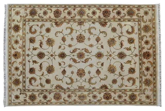 Oriental Rug Hand Knotted Rug Rajasthan Soft Colors Sh9180 transitional-area-rugs