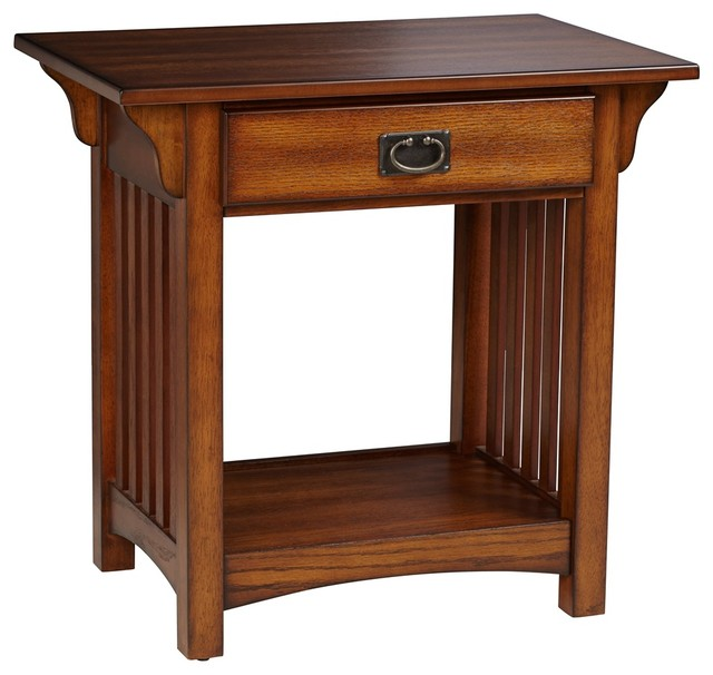 Shiloh mission style medium oak end table craftsman for Mission style kitchen table