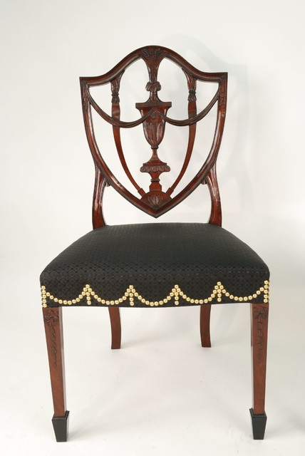 Federal Shield Back Side Chair Traditional Armchairs  : traditional living room chairs from www.houzz.com size 428 x 640 jpeg 42kB