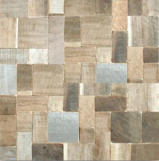Teak Mosaic Tiles asian