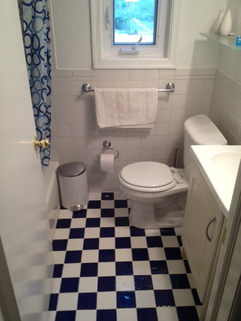 5x7 bathroom space total renovation
