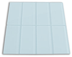 "Vapor Light Blue 3"" x 6"" Glass Subway Tile modern-tile"
