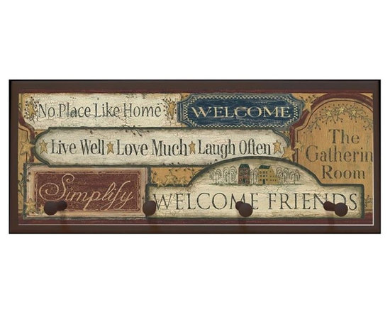 illumalite Designs - Country Sign Plaque in Brown (Plaque without Peg) - Choose Plaque: Plaque without Peg. Includes hanging hardware. Solid wood base. Made in USA. Without peg: 25 in. W x .5 in. D x 10.25 in. H (3.31 lbs.). With peg: 25 in. W x 4 in. D x 10.25 in. H (3.44 lbs.)