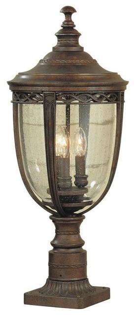 Murray feiss lighting ol3008brb pier post lantern rustic for Houzz rustic lighting