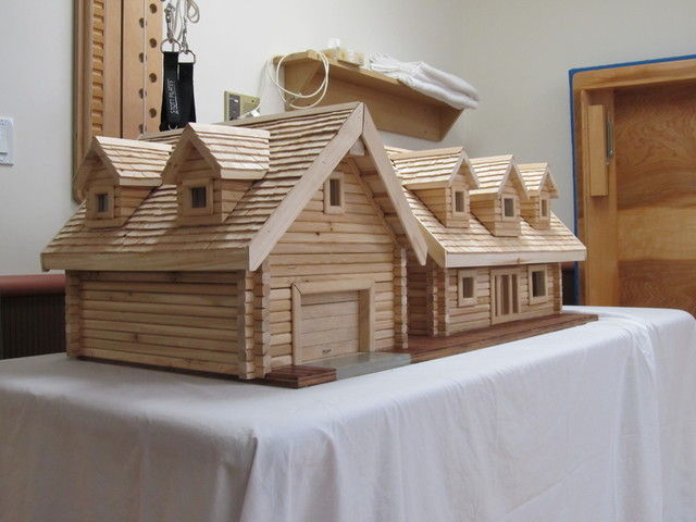 Log Home Model traditional kids toys
