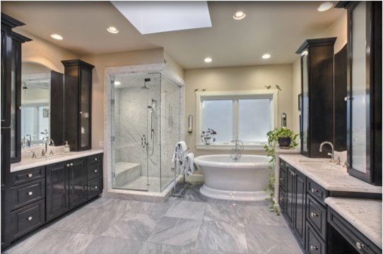 Master Suite Addition Granada Hills Traditional Bathroom Los Angeles By Roger Perron