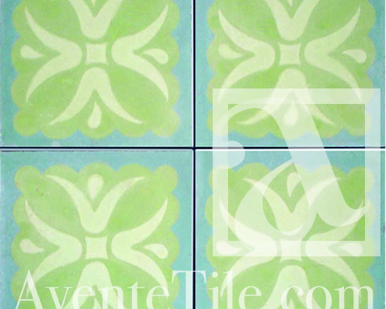 """Traditional Tulipan Cement Tile 8"""" x 8"""" -"""